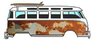 Rust Rusty Paint Patina Design for Retro VW Split Screen Camper Van Bus Graphic External Vinyl Car Sticker 120x50mm
